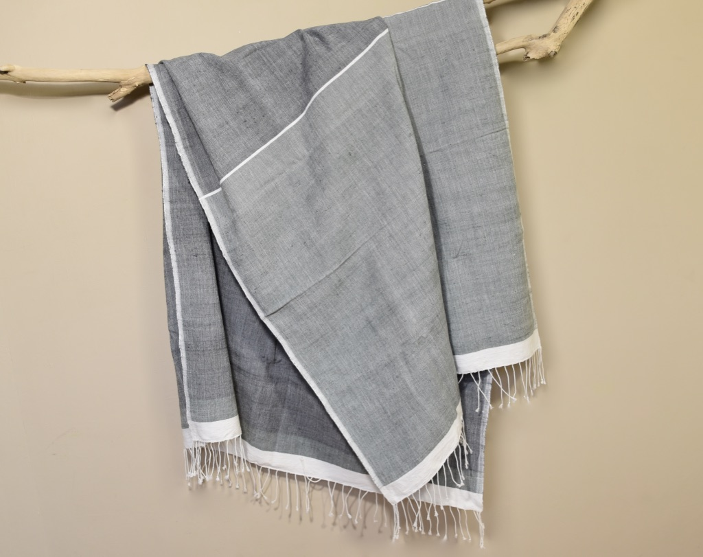 Beach towel Abay dark grays
