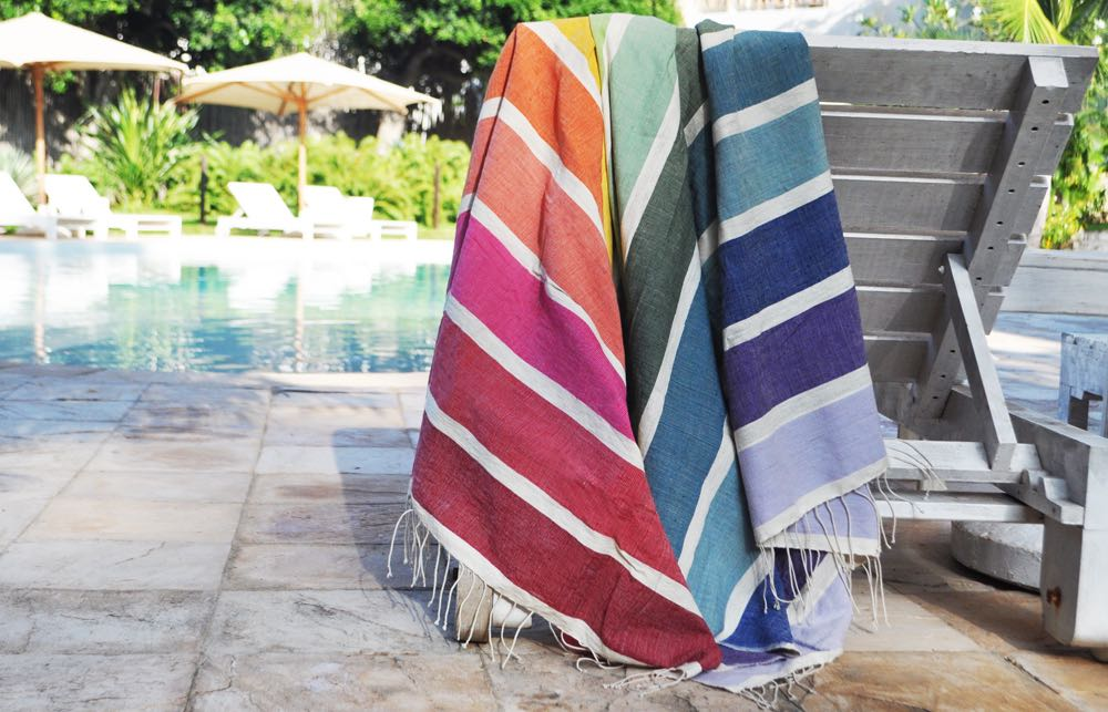 Beach towel Kalam rainbow
