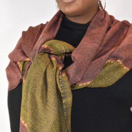Woolen scarf Fasil copper/mustard