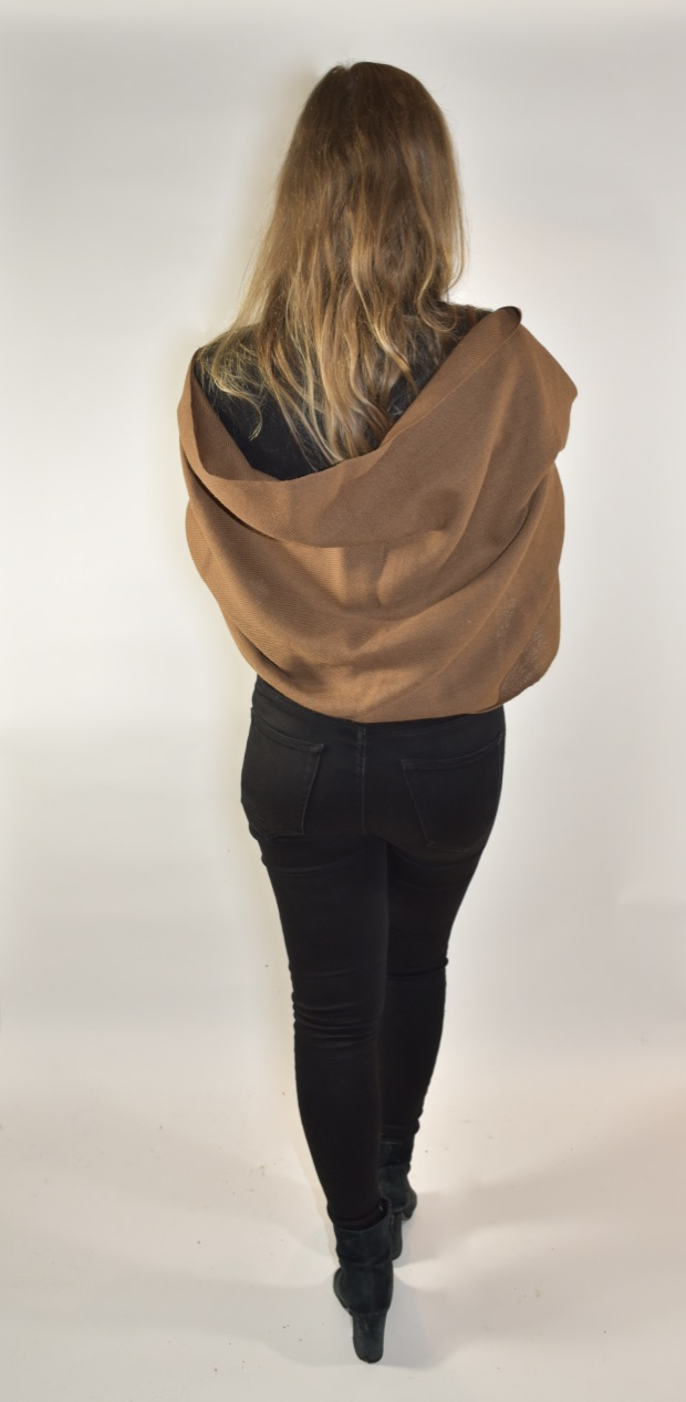 Brown alpaca scarf from Bolivia
