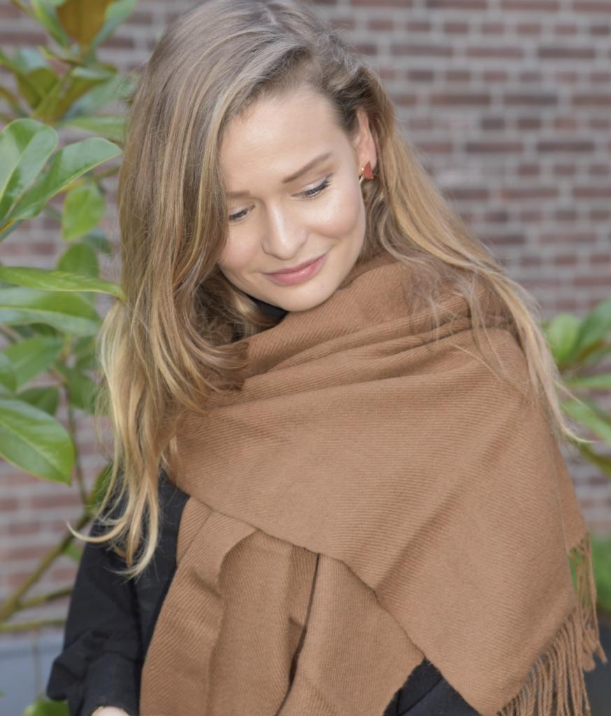Bruine alpaca sjaal uit Bolivia