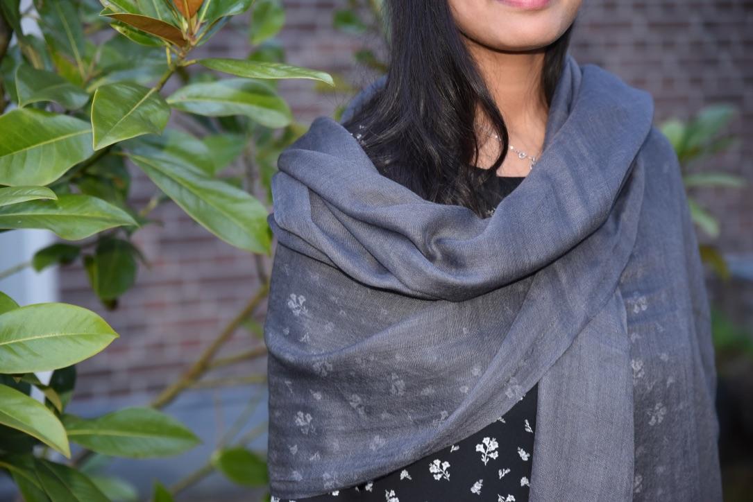 Lightweight cashmere sjaal zwart
