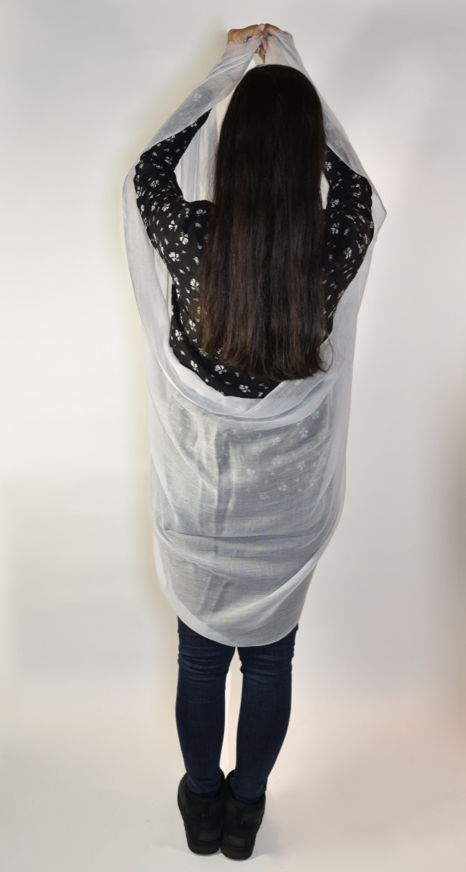 Lightweight cashmere sjaal lichtgrijs