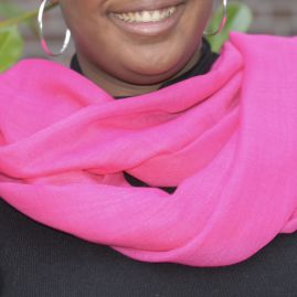 Lightweight cashmere sjaal fuchsia