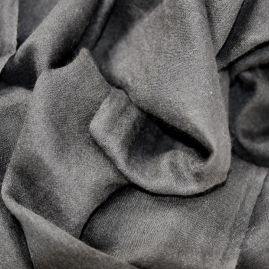 Lightweight cashmere scarf dark gray