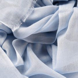 Lightweight cashmere scarf light blue