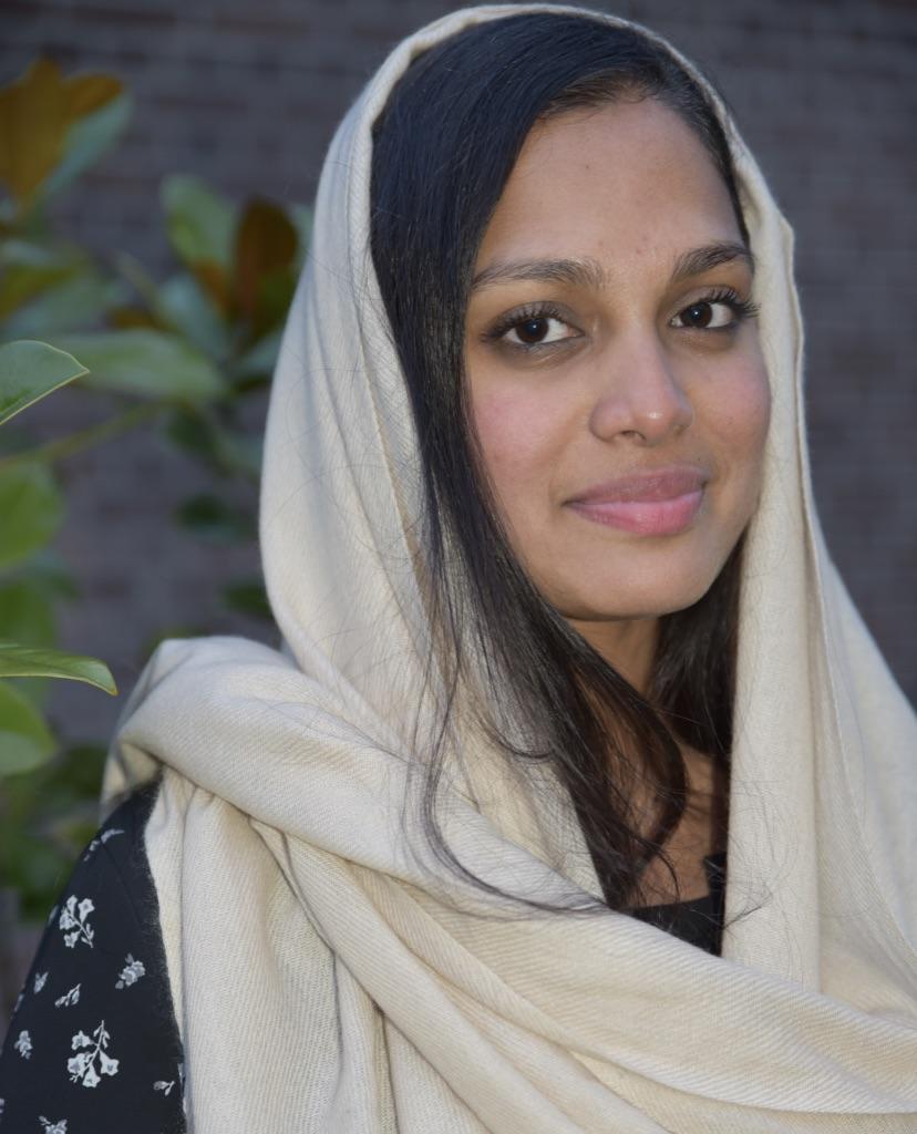 Cashmere scarf in beige
