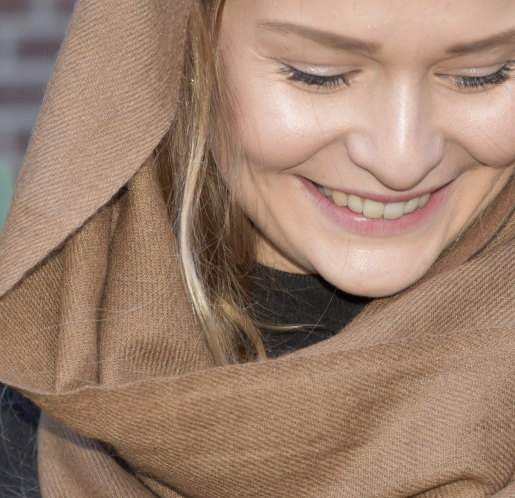 Cashmere stola/sjaal in bruin