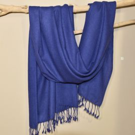 Cashmere sjaal in donkerblauw