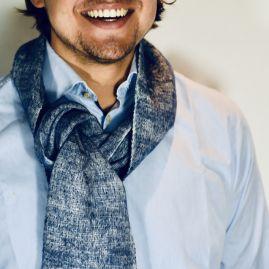 Yak sjaal blauw uit Nepal