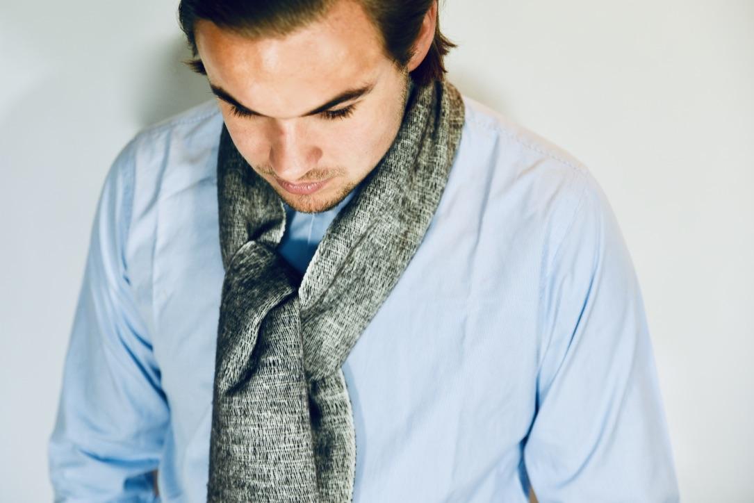 Yak sjaal antraciet uit Nepal