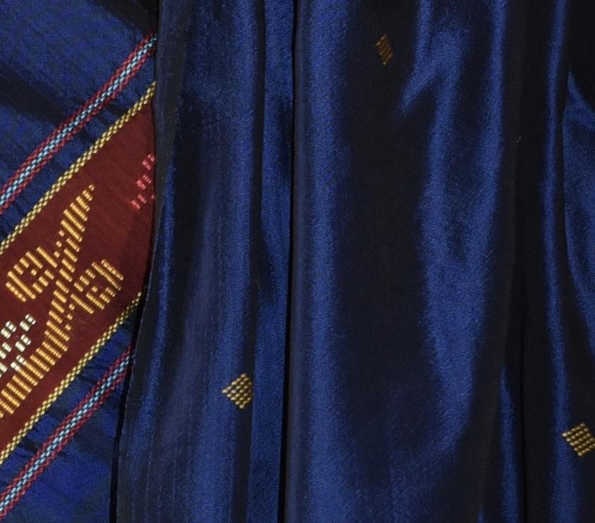 Roal blue silk scarf