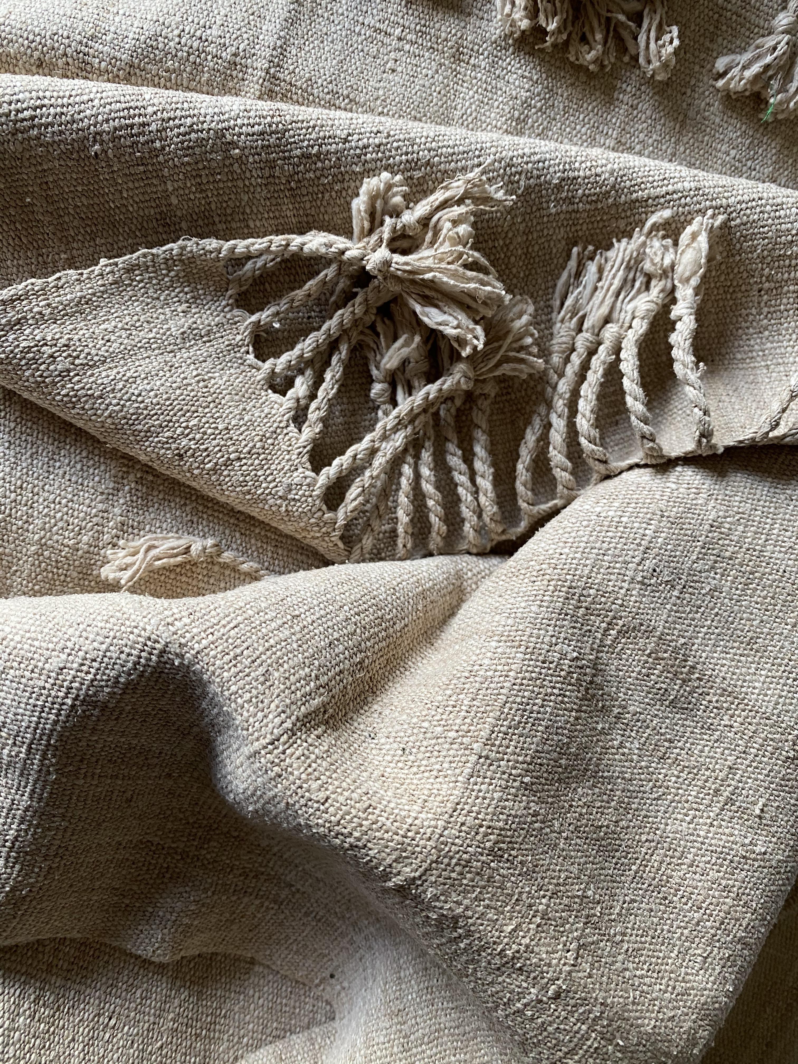 Unique lotus silk scarf (natural colour)