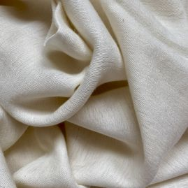 Beige scarf from silk/cotton