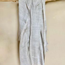 Zandkleurige sjaal van cashmere/katoen uit Nepal