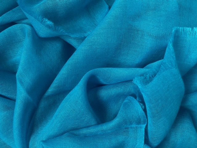 Lightweight cashmere sjaal turquoise