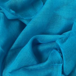 Lightweigth cashmere stole in turquoise