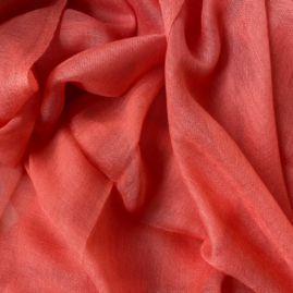 Lightweight cashmere sjaal koraal
