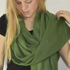 Lightweight cashmere sjaal in groen