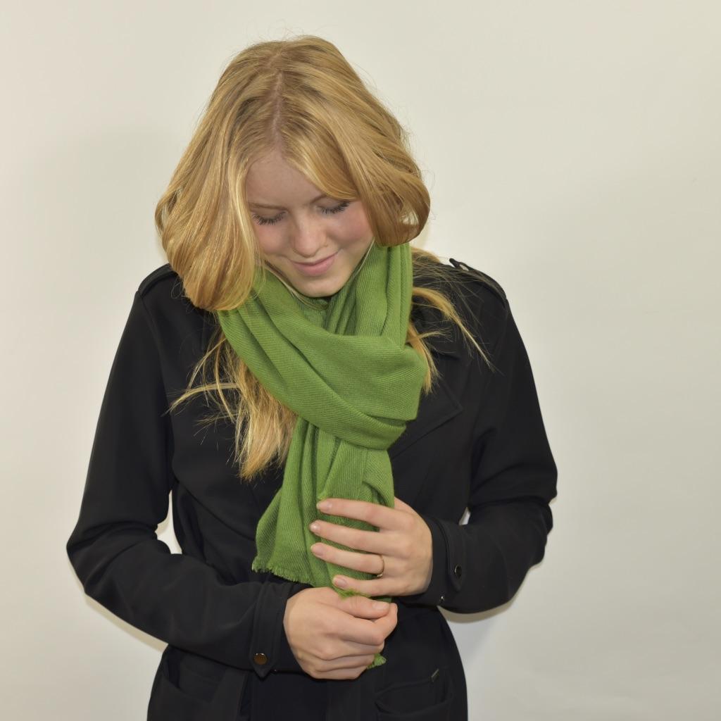 Cashmere stola/sjaal in groen