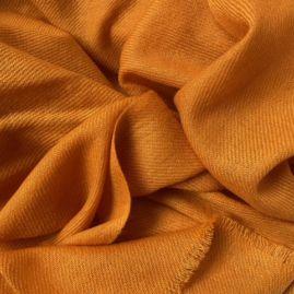 Cashmere stole in warm orange