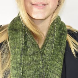 Groene sjaal van yakwol
