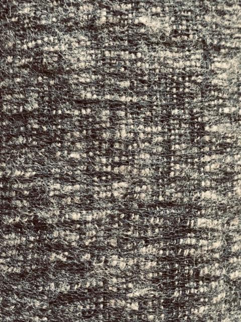 Taupe sjaal van yakwol