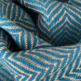 Scarf with petrol fishbone design from Cambodia