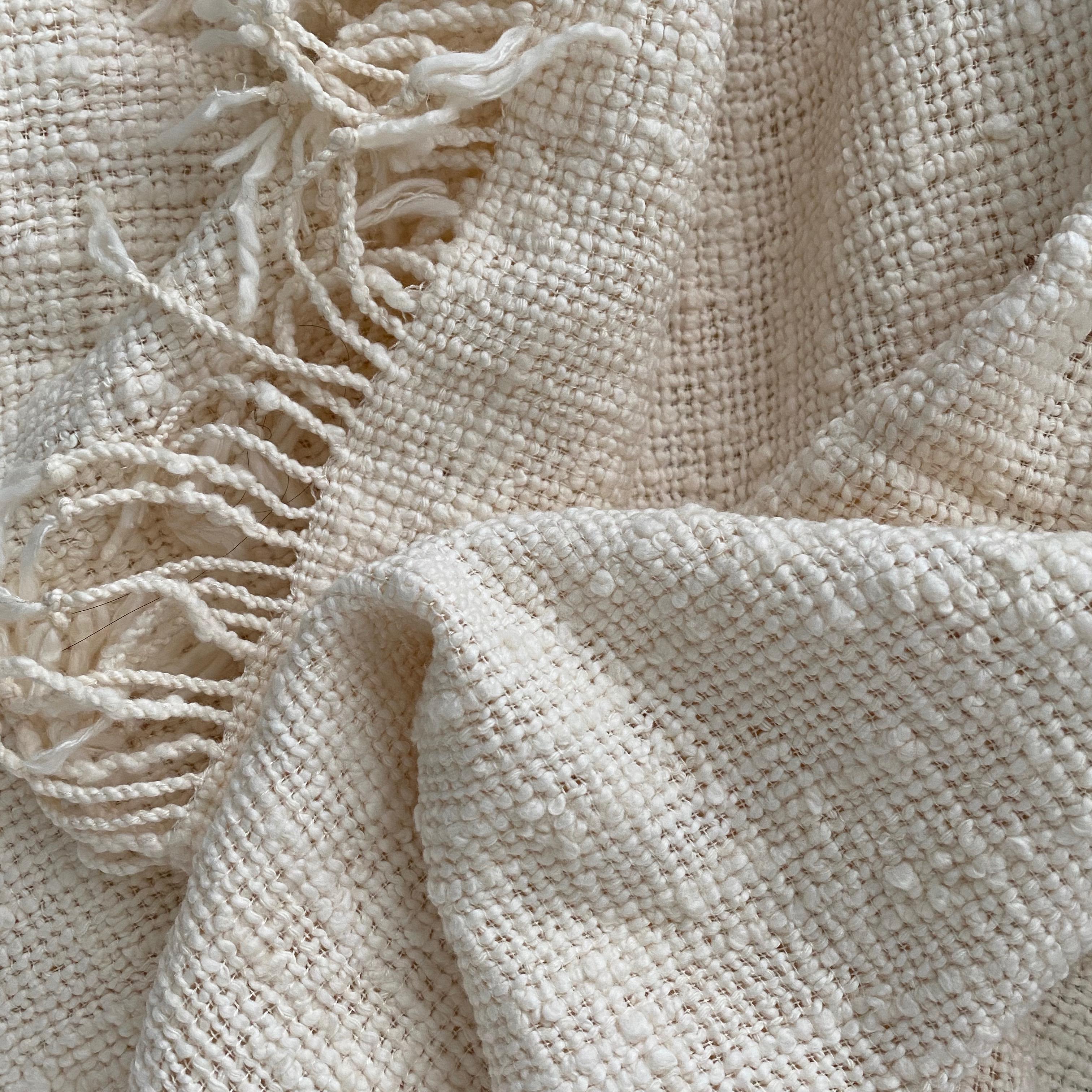 Witte sjaal van katoen