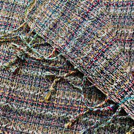 All colour sjaal in roze/paars/bruin/blauw