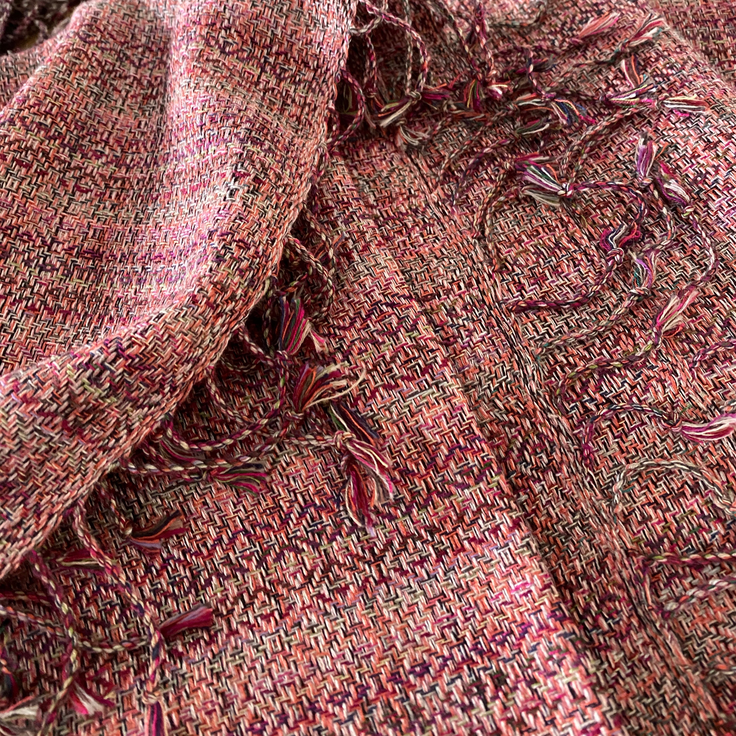 All colour scarf in pink