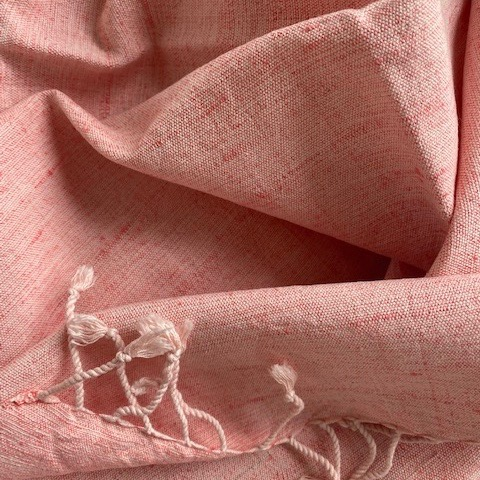 Silk/cotton mix in coral